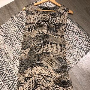 Beige and tan dress